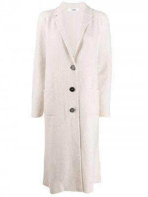 Кардиган-пальто на пуговицах Roberto Collina. Цвет: белый