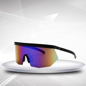 Мужские солнцезащитные очки с плоским верхом SHEIN. Цвет: многоцветный