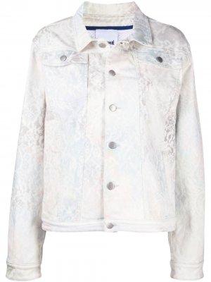 Джинсовая куртка с принтом Koché. Цвет: белый