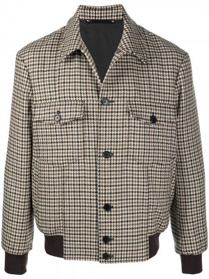 Houndstooth bomber jacket Paul Smith. Цвет: коричневый