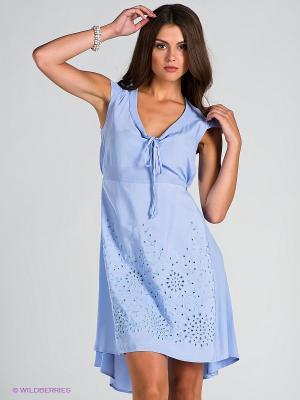 Платье Blue deep. Цвет: голубой