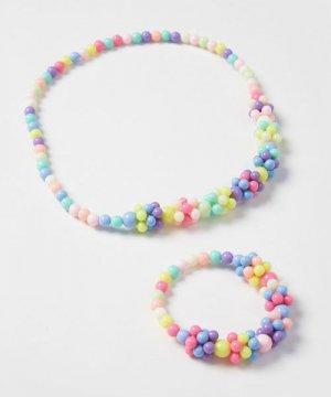Набор из ожерелья и браслета для девочек O`Stin. Цвет: многоцветный