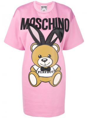 Платье-футболка Playboy toy Moschino