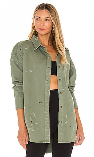Рубашка lewis NSF. Цвет: зеленый