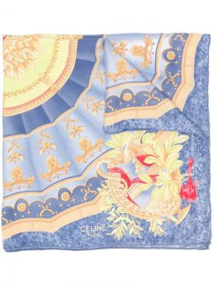 Платок с принтом Céline Pre-Owned. Цвет: синий