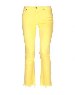 Джинсовые брюки (+) PEOPLE. Цвет: желтый