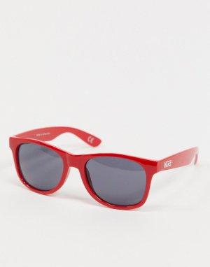 Красные солнцезащитные очки с шахматной клеткой Spicoli 4-Красный Vans