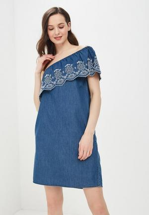 Платье джинсовое Dorothy Perkins. Цвет: синий