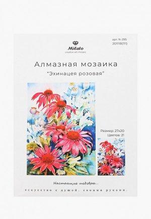 Мозаика алмазная Милато Эхинацея розовая, 21 цвет. Цвет: разноцветный