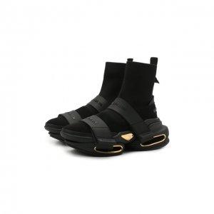 Комбинированные кроссовки B-Bold Balmain. Цвет: чёрный