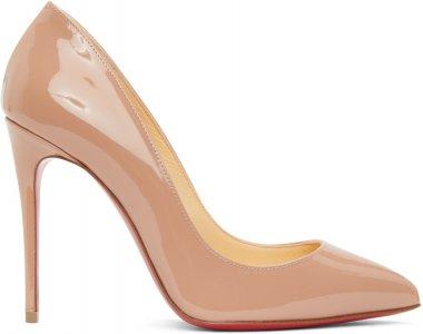 Pink Patent Pigalle Follies 100 Heels Christian Louboutin. Цвет: pk1a nude