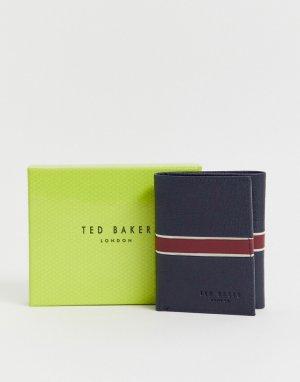 Темно-синяя кредитница Strive RFID tri-fold-Темно-синий Ted Baker