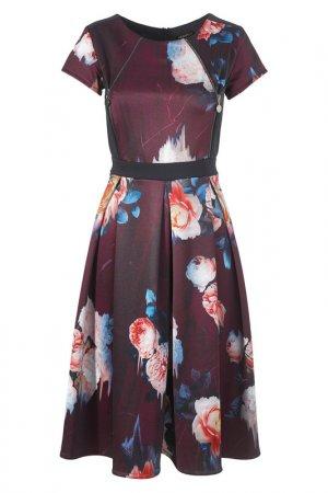 Платье Apart. Цвет: бордовый, многоцветный