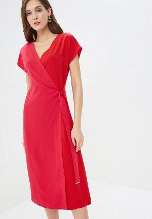 Платье Perspective. Цвет: красный