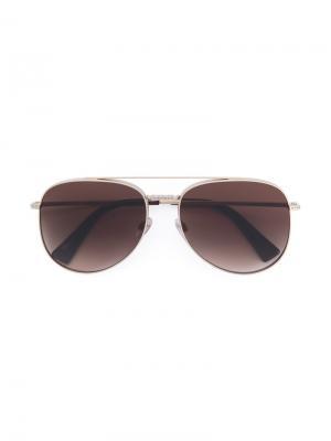 Aviator style sunglasses Valentino Eyewear. Цвет: металлический