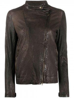 Куртка на молнии с длинными рукавами Salvatore Santoro. Цвет: коричневый