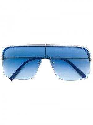 Солнцезащитные очки в крупной квадратной оправе Cutler & Gross. Цвет: синий
