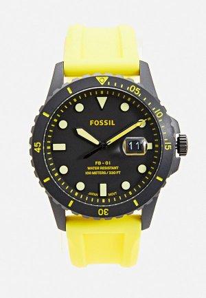 Часы Fossil FS5684. Цвет: желтый