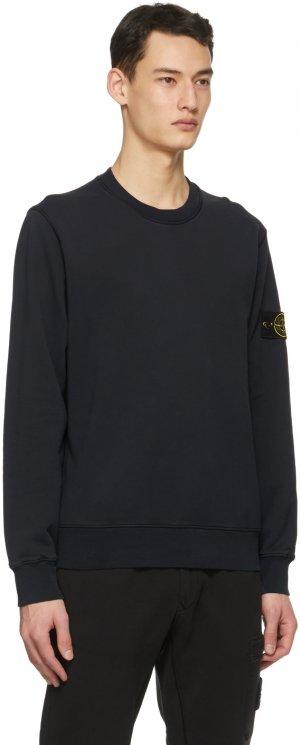 Navy Classic Sweatshirt Stone Island. Цвет: v0020 navy blue
