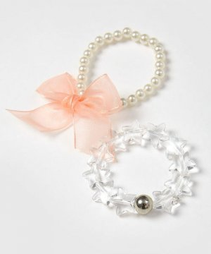 Комплект из 2-х браслетов для девочек O`Stin. Цвет: жемчужно-белый