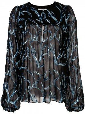 Блузка Valex с вышивкой Alexis. Цвет: черный