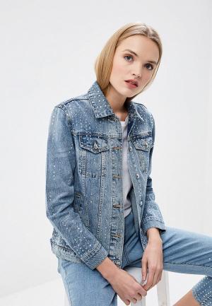 Куртка джинсовая Juicy Couture. Цвет: голубой