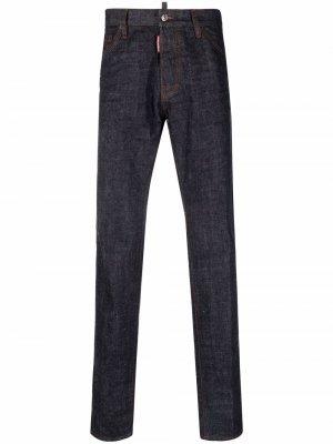 Зауженные джинсы с логотипом Dsquared2. Цвет: синий