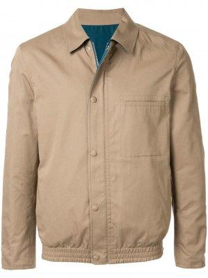 Классическая куртка-рубашка Cerruti 1881. Цвет: коричневый