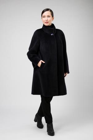 Модное пальто из альпака на большой размер Leoni Bourget. Цвет: фиолетовый
