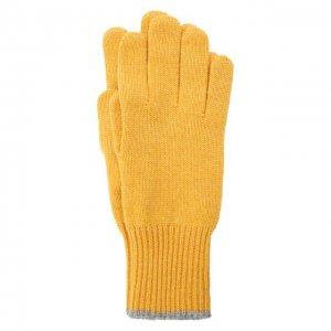 Кашемировые перчатки Brunello Cucinelli. Цвет: жёлтый