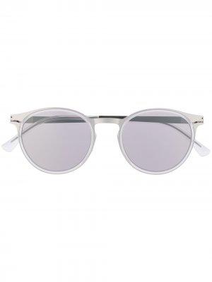Солнцезащитные очки DD2.3 в круглой оправе Mykita. Цвет: серый