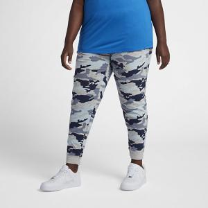 Женские брюки с камуфляжным принтом Sportswear Gym Vintage (большие размеры) Nike. Цвет: синий