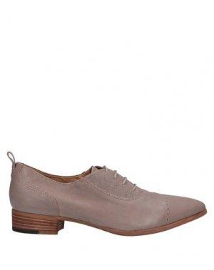 Обувь на шнурках ALBERTO FERMANI. Цвет: голубиный серый