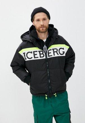 Пуховик Iceberg. Цвет: черный