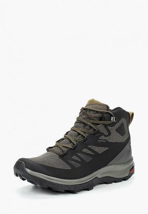 Ботинки трекинговые Salomon OUTline Mid GTX. Цвет: черный