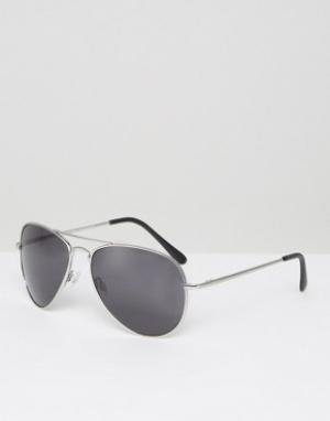 Солнцезащитные очки-авиаторы -Черный Selected Homme