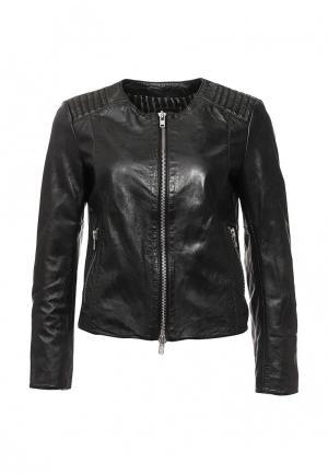 Куртка кожаная Blouson BL033EWQGN38. Цвет: черный