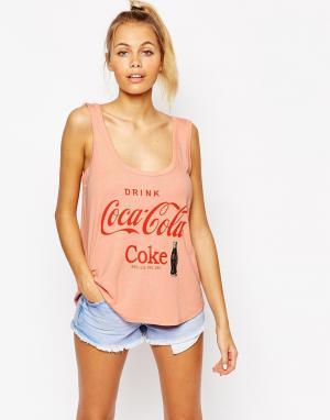 Майка с принтом Drink Coca-Cola Loves Wildfox. Цвет: cotton candy