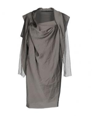 Короткое платье GAETANO NAVARRA. Цвет: серый