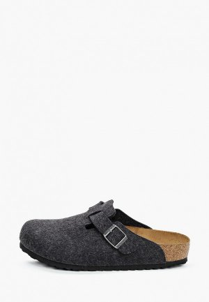 Мюли Birkenstock Boston WO Anthrazit Regular. Цвет: серый