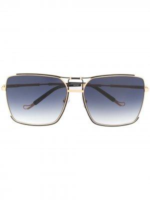 Солнцезащитные очки Peony из коллаборации с Linda Farrow Matthew Williamson. Цвет: золотистый