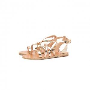 Кожаные сандалии Delia Ancient Greek Sandals. Цвет: золотой