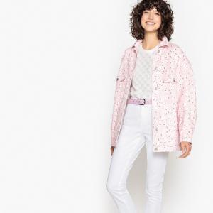 Куртка джинсовая LA REDOUTE COLLECTIONS. Цвет: наб. рисунок/ розовый