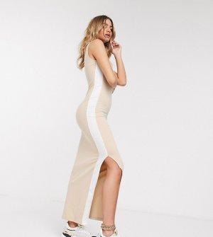 Бежевое платье с глубоким вырезом на спине эксклюзивно для ASOS-Серый Puma