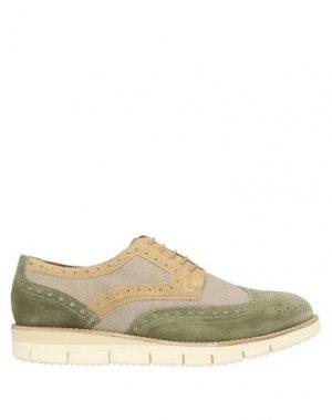 Обувь на шнурках MFW COLLECTION. Цвет: зеленый-милитари