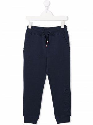Logo-debossed slim-fit track pants Tommy Hilfiger Junior. Цвет: синий