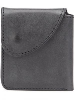 Бумажник с кнопочной застежкой Hender Scheme. Цвет: чёрный