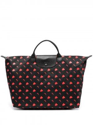 Дорожная сумка Le Pliage Collection Longchamp. Цвет: черный
