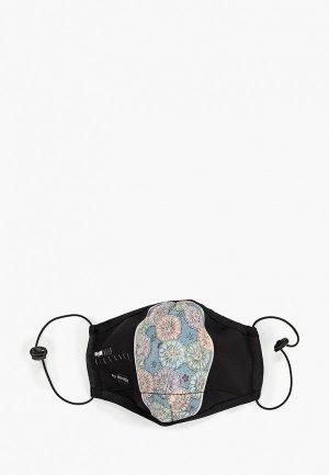 Маска для лица с фильтрующим элементом Routemark и перчатками, Пушкинский музей – Кувшинки. Цвет: черный