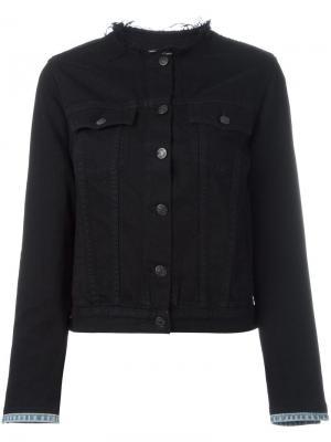 Джинсовая куртка без воротника Rag & Bone /Jean. Цвет: чёрный